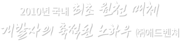 2010년 국내 최초 원천 매체 개발자의 축적된 노하우 (주)애드벤쳐